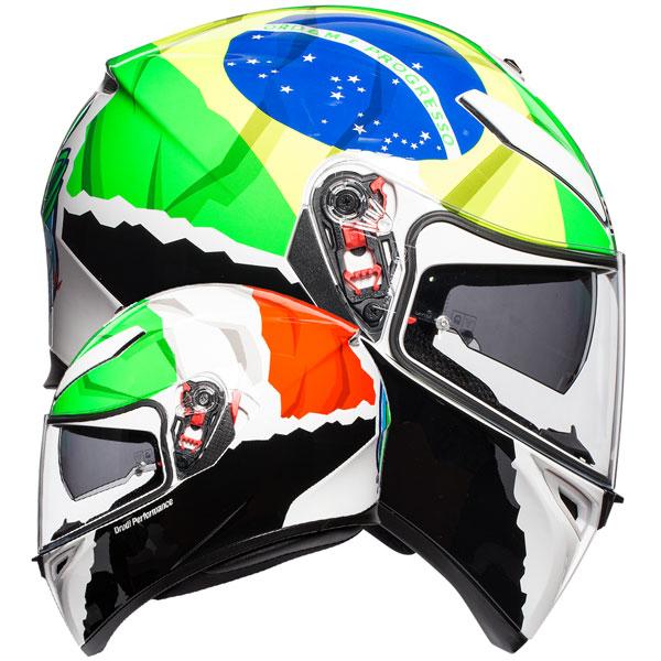 AGV Attack K-3 SV Full Face Helmet - Orange - Medium/Small