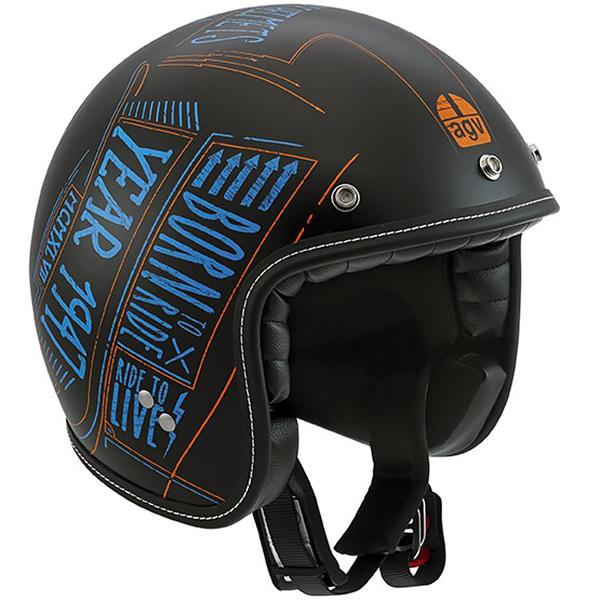 AGV RP60 Matte Black Open Face Helmet | 911-891 | J&P Cycles