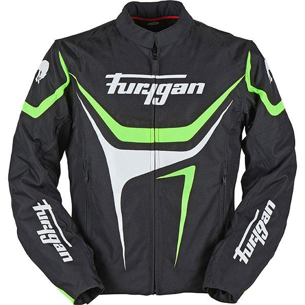 Furygan Oggy Waterproof Breathable Motorcycle Motorbike Jacket Black//White